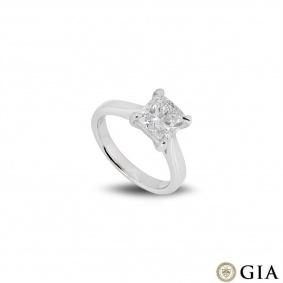 Platinum Cushion Cut Diamond Ring 2.00ct F/VS2